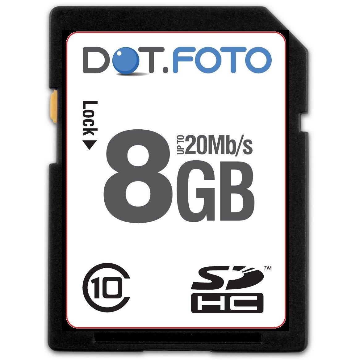 Dot.Foto - Tarjeta de memoria SDHC para Olympus T-10, T-100 ...