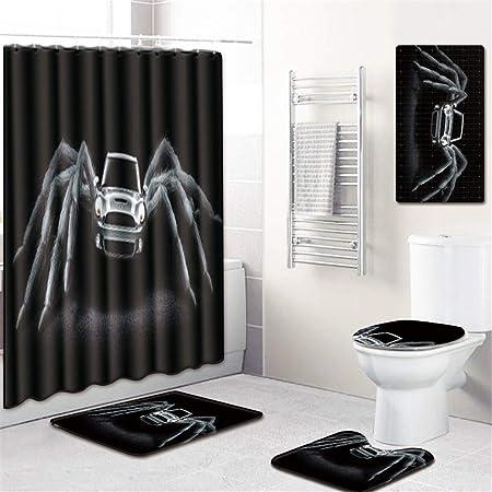 Space element Impresión 3D Araña Ducha Cortinas Mamparas De Baño Impermeable Cortinas para Baño Decoración 5 Unids/Set,A: Amazon.es: Hogar