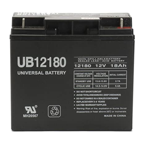 12v 18ah Battery >> Universal Battery Ub12180 Replacement Rhino Battery Electronics