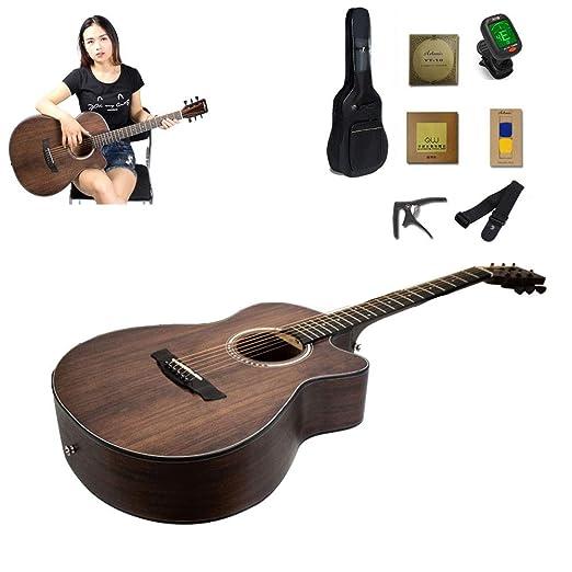 YUSDP Guitarra acústica clásica para Principiantes de 40
