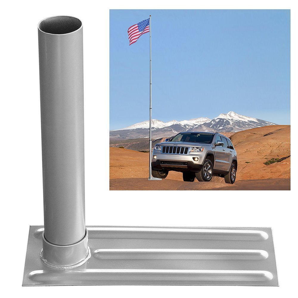 6-section 30 ft Aluminum Rustproof Telescopic Flag Pole Kit comes with Tire Mount Wheel Stand + US Flag & Gold Ball Finial by Generic (Image #6)