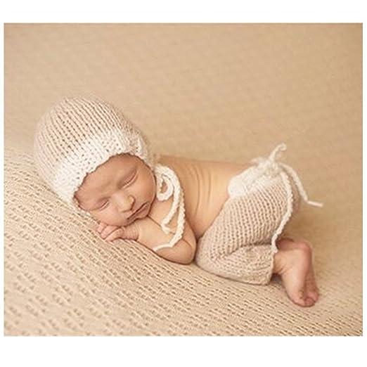 Fashion recién nacido niño niña bebé disfraz fotografía Props sombrero de  pantalones Binlunnu b3b0a96da4d1
