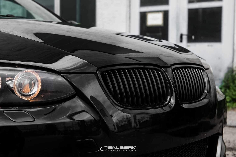 Für BMW 3er E92 E93 M M3 Nieren Kühlergrill Grill Matt Schwarz Performance