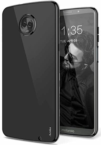the best attitude b4d3e 5cd58 Moto Z3 Play Case, Moto Z3 Case, Aeska Ultra [Slim Thin] Flexible TPU Gel  Rubber Soft Skin Silicone Protective Case Cover for Motorola Moto Z3 Play  ...
