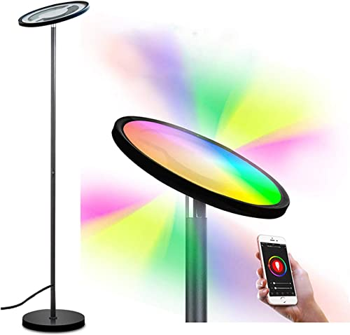 Smart Floor Lamp,BRTLX RGBW Dimmable LED Reading Standing Lamp