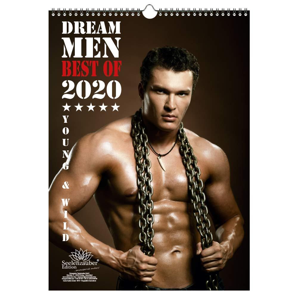 Dream Men Kalender Hochformat 2020 DIN A3 Erotik Männer Mann   Seelenzauber