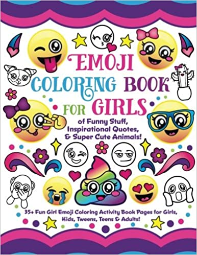 Amazon Com Emoji Coloring Book For Girls Of Funny Stuff