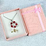 Potelin Gift Box Presents Wrapping Bracelet Present for Necklace Pendant Jewelry Case Box