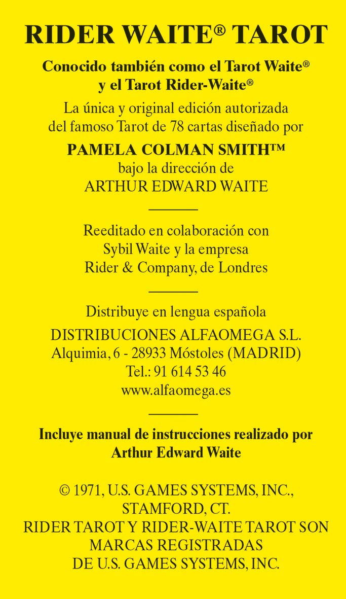 Rider Waite tarot: Arthur Edward Waite: 9788415292739 ...