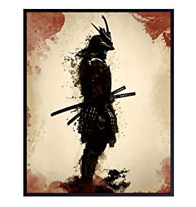 Samurai, Ninja, Martial Arts Wall Art, Home Decor - Unique Poster, Print - Unique Room Decorations for Self Defense Students - Gift for Karate, Tae Kwan Do Fans - 8x10 Photo Unframed