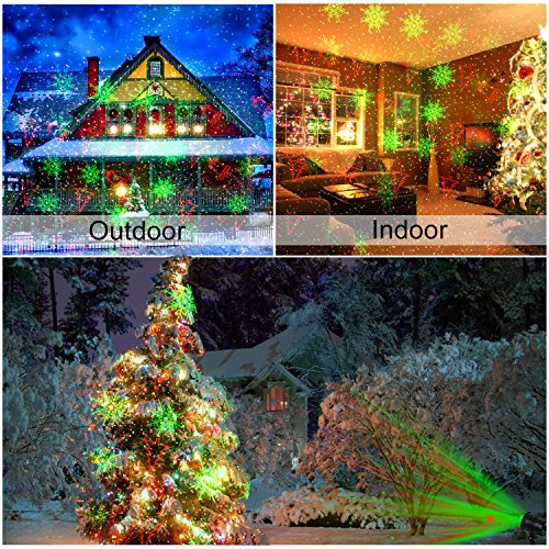 Diateklity YG-LA-01 Projector Red and Green Star Shower Outdoor Laser Light for Christmas, Party, Landscape, House and Garden Decorations by Diateklity (Image #1)