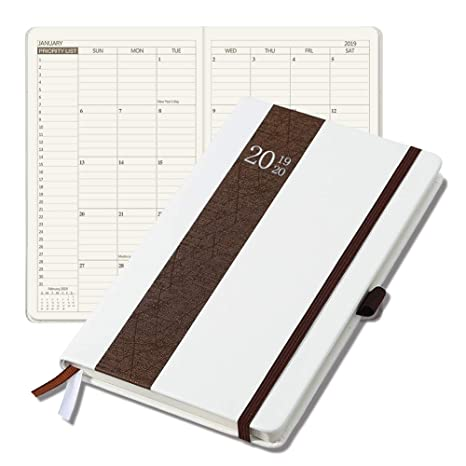 Planner 2019-2020 Weekly/Monthly Agenda Hardcover Planner Time Management Premium Thicker Paper Notebook with Pen Holder and Pocket A5(8.5