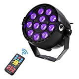U`King Black Lights with 3W x 12 LEDs UV Bar by IR Remote Control and Sound Activated for Stage Lighting