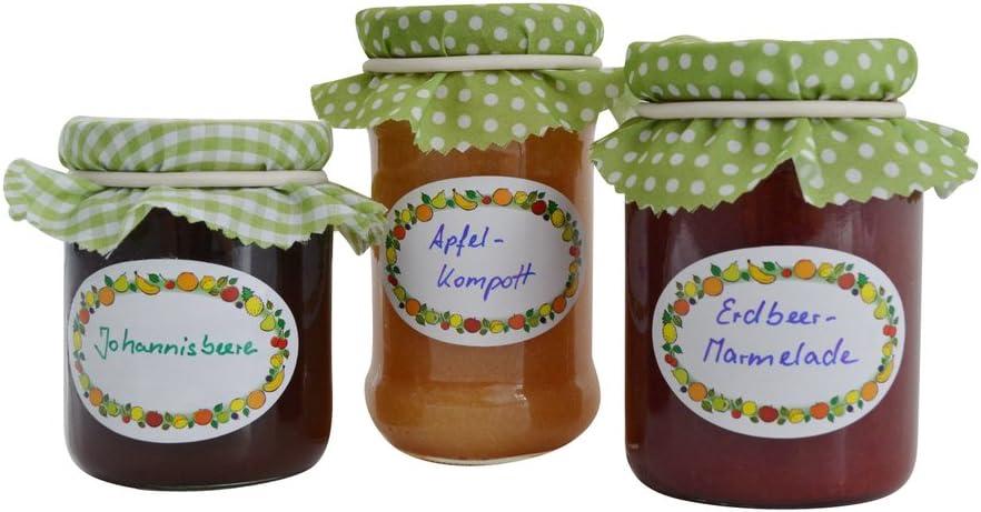 Multicolore Kitchen Craft Home Made Etichette Adesive per Barattoli di Marmellata in Vetro