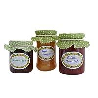 Self-Adhesive Labels, Set of 250cm Dispenser Box. Self-Adhesive Labels for Jam, Preserving - and Seasoning Jars