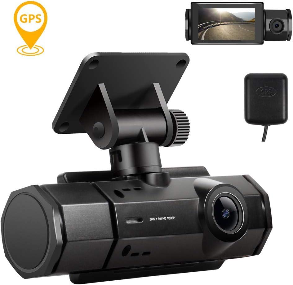 Dash Cam, Dash Camera for Cars 1080P FHD Car Camera Wide Angle, GPS Track Playback, G-Sensor, Loop Recording, Motion Detection, Parking Monitor