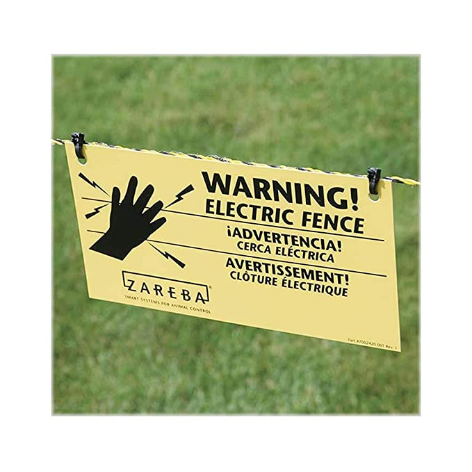 Zareba WS3 3-Pack Electric Fence Warning Signs