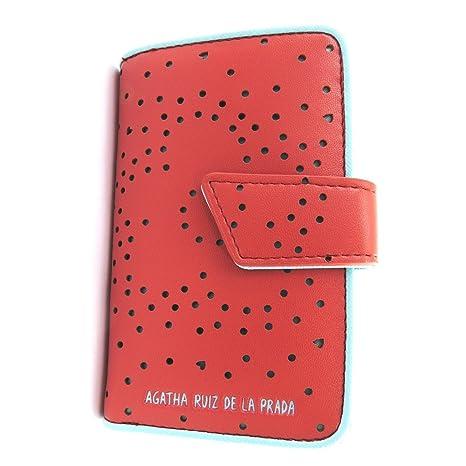 Cartera Agatha Ruiz De La Pradade color rojo - corazones perforados (s