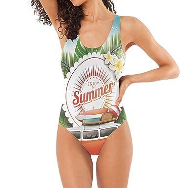 79893a59ab7 Cute Summer Trip Swimwear Monokini Set for Women Sexy Top One Piece ...