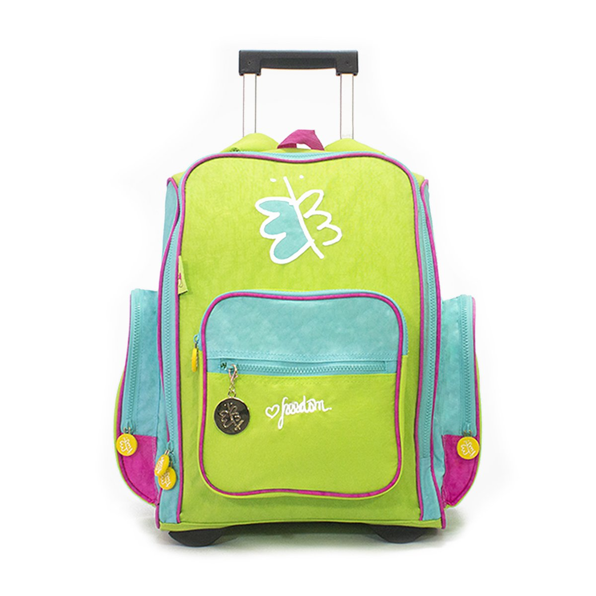 Biglove Rolling Kids Backpack Freedom, Multi-Colored, One Size