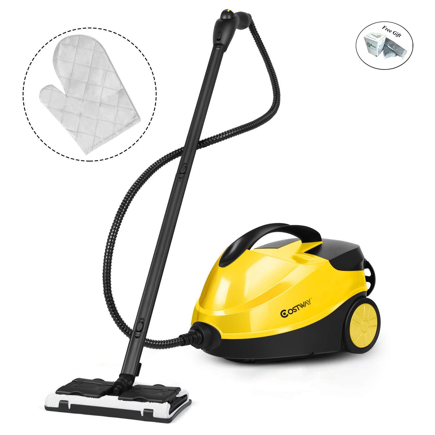 Eight24hours Heavy Duty Multi-Purpose Steam Cleaner 2000W Dual Tank System Quick Heat 1 min Only