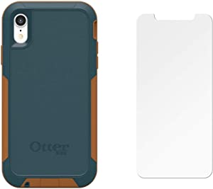 OtterBox Pursuit Series Case for iPhone Xr (ONLY) with Screen Protector - Bulk Packaging - Autumn Lake (Blue/Light Brown)