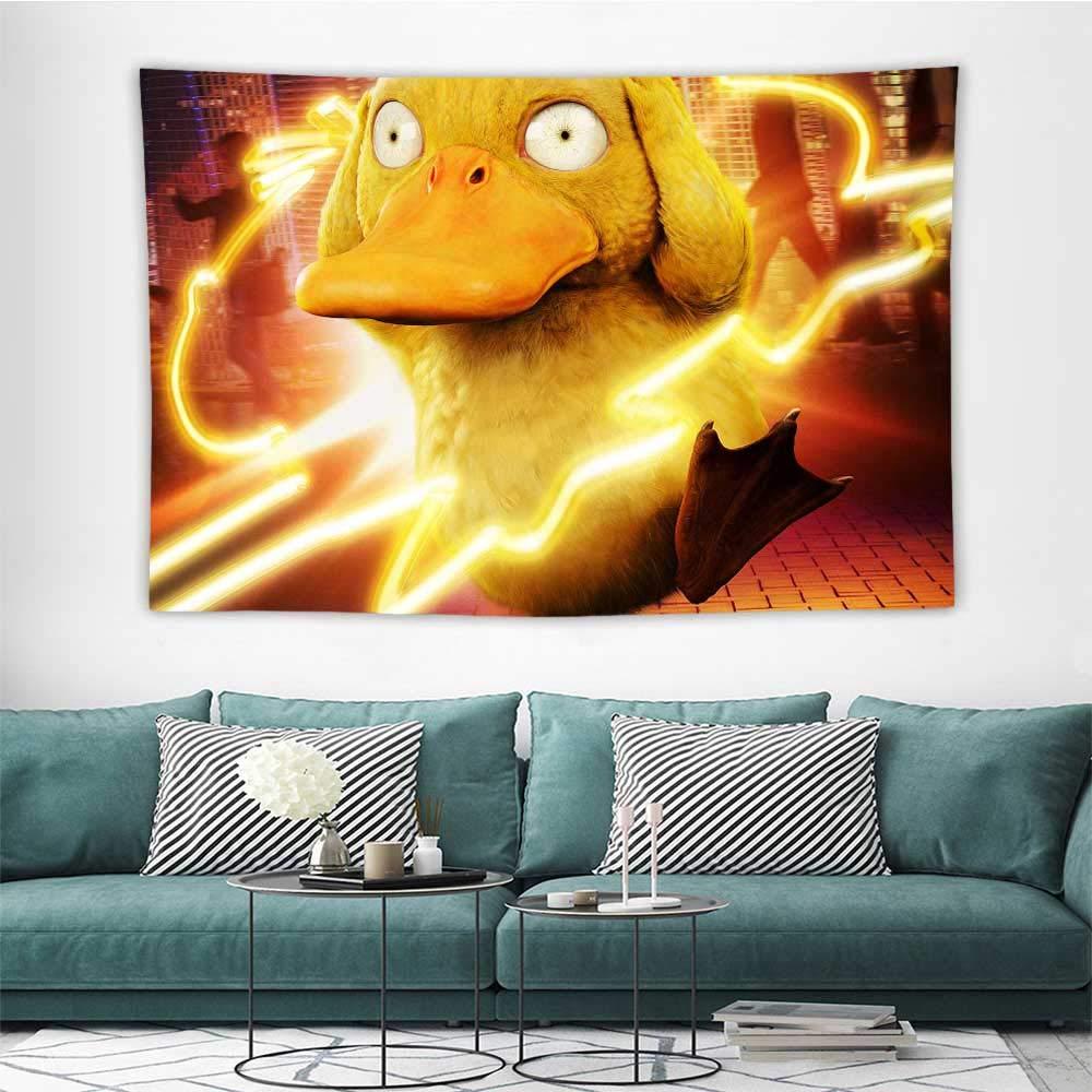 Amazoncom Wall Decor Tapestry Detective Pikachu Koda Duck