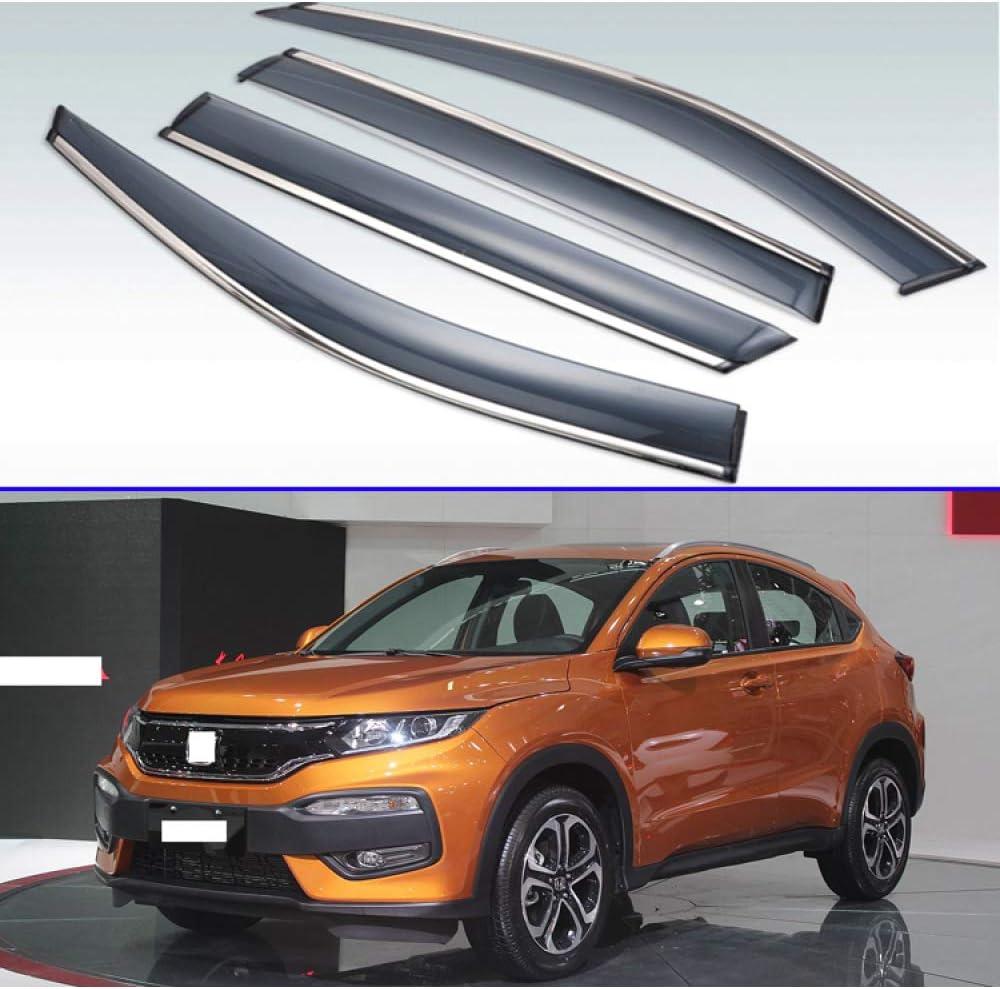 MYlnb For Honda Vezel XR-V HR-V 2014-2019,Plastic Exterior Visor Vent Shades Window Sun Rain Guard Deflector 4pcs