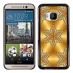 Exotic-Star ( Stars Pattern Polygon Glitter ) Fundas Cover Cubre Hard Case Cover para HTC One M9