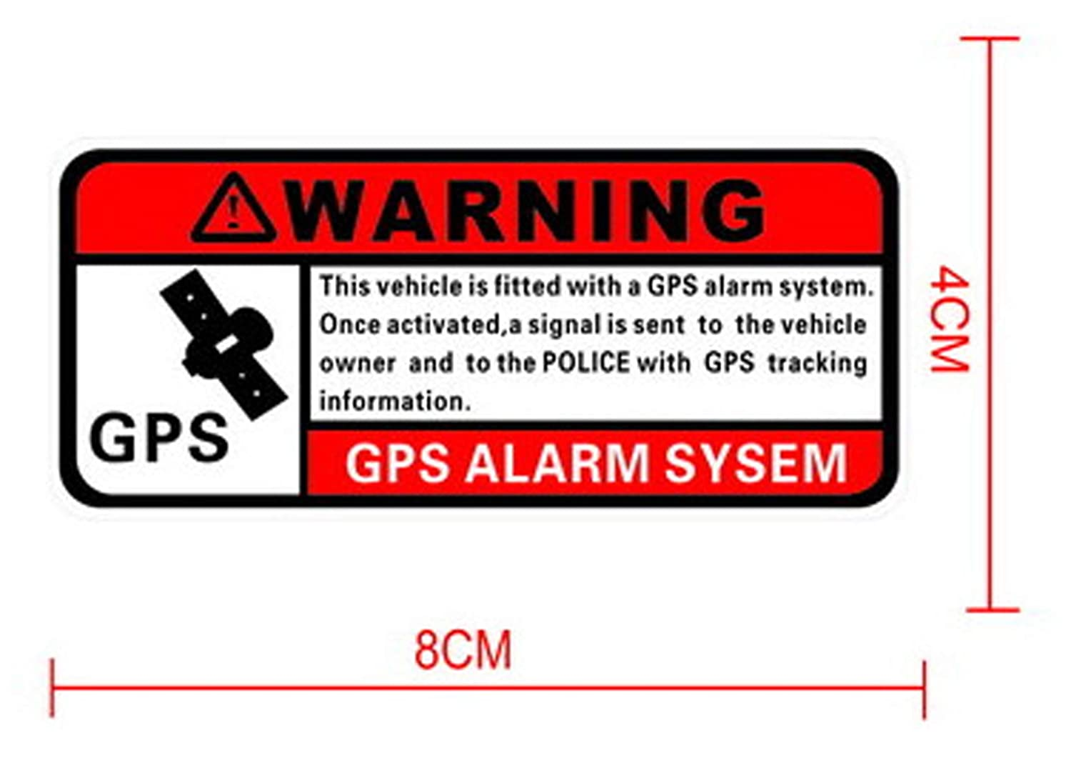Warning GPS Waterproof Decal Sticker Danger Banning Signs Riders 2 Pack Warning Sticker for Motorcycles