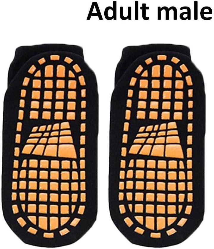 Presentimer Non-slip dispensing yoga socks adult children men and women non-slip bottom trampoline non-slip fitness dance Pilates socks 0-2 years old orange red rubber sole