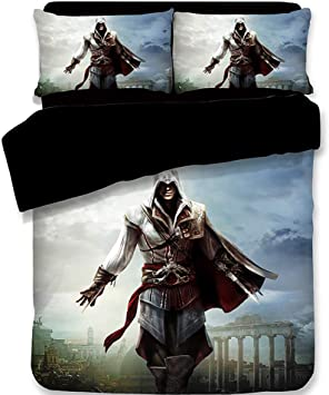 Copripiumino Assassins Creed.Jsbvm Set Copripiumino 3d Stampato Assassin S Creed Modello Set Di