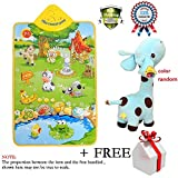 Kids Piano Musical Touch Play Crawl Mat Baby Fun Animal Game Child Plush Play Toy Soft Giraffe Animal Dolls Toy Birthday Party Xmas Gift