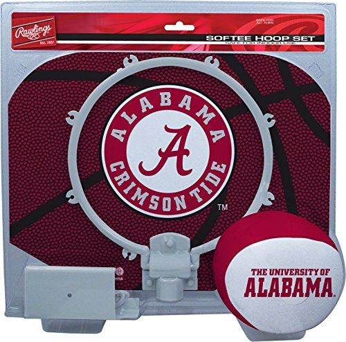 Rawlings NCAA Alabama Crimson Tide Kids Slam Dunk Hoop Set, Red, Small