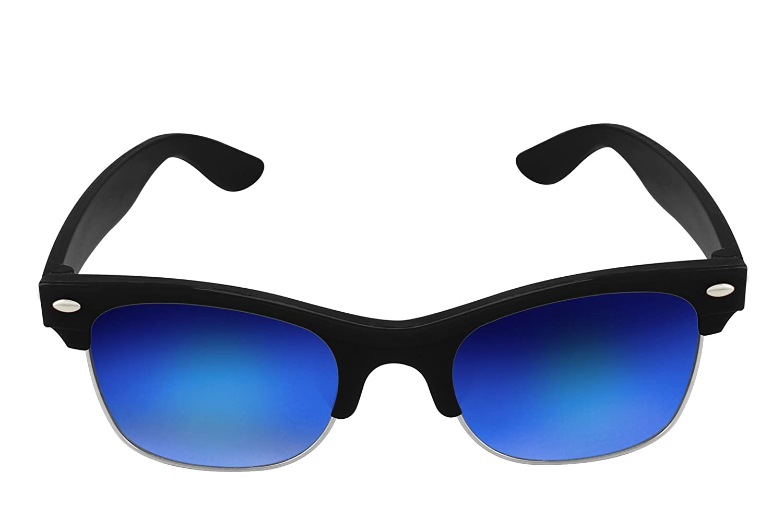WMC UV Protected Clubmaster Wayfarer Unisex Sunglasses For