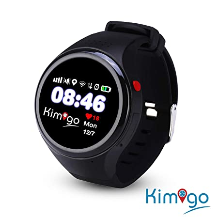Kimigo GPS Tracker Telefon-Uhr Kinderuhr Kidswatch SOS Notruf, Smartphone App gesteuert, Kundensupport in Deutschland, Deutsc