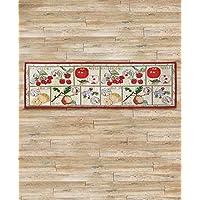 54 Country Farmhouse Apple Lemon Pear Fruits Kitchen Aisle Nonskid Tapestry Floor Runner Accent Rug