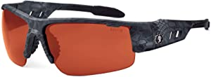 Ergodyne Skullerz Dagr Polarized Safety Sunglasses- Kryptek Typhon Black Camo Frame, Copper Lens