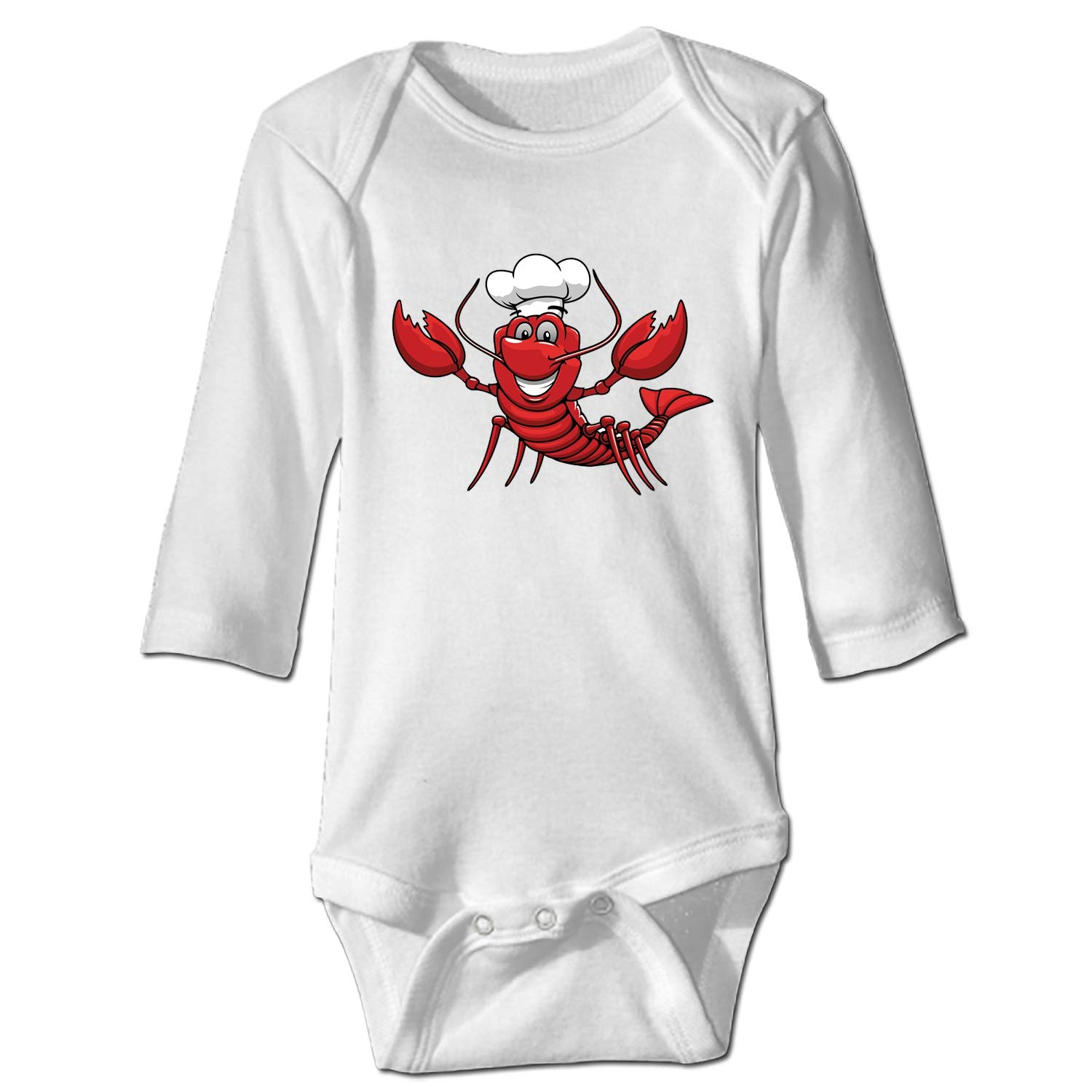 Imiss Baby Cotton Bodysuits Crawfish Chef Long-Sleeve Onesies