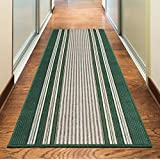 NEW GREEN COLORFUL MODERN WASHABLE NON SLIP KITCHEN UTILITY HALL LONG RUNNER DOOR MAT RUG (5 SIZES AVAILABLE) (80x150cm (26x5)) by Rugs Superstore