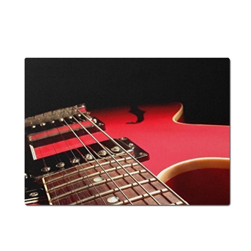 Rojo guitarra eléctrica instrumento musical alfombrilla de ratón alfombrilla de ratón personalizada Rectángulo S ratón almohadillas 9.84