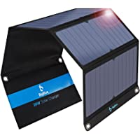 [Upgraded]BigBlue 3 USB Ports 28W Solar Charger(5V/4.8A Max), Foldable Portable Solar Phone Charger with SunPower Solar…