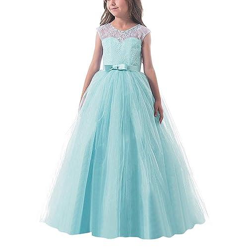 NNJXD Vestido de Fiesta de Tul de Encaje Falda de Princesa para Niñas