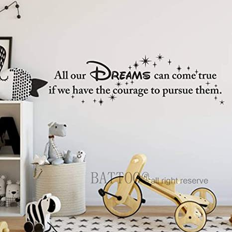 DREAM AS IF.. WALL QUOTE DECAL VINYL HOME DECOR LETTERING