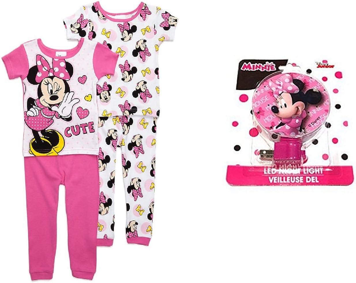 Pants Set Minnie Mouse Size 3T Adorable 4-Piece Cotton Pajama Shorts