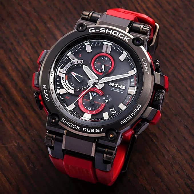 Mens Casio G-Shock MT-G Connected Red Resin Strap Limited Edition Watch MTGB1000B-1A4