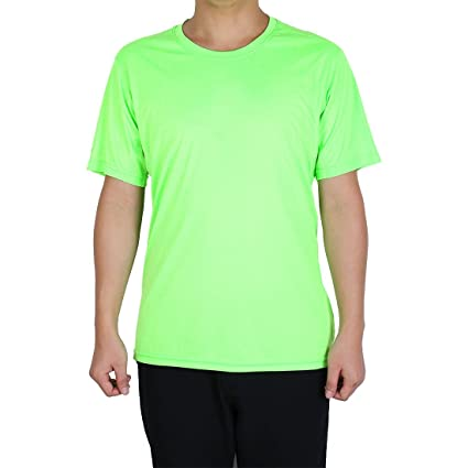 14730ff9 Amazon.com : uxcell Adult Men Polyester Breathable Short Sleeve ...