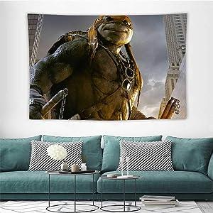 HoMdEfW Wall Tapestry Hanging Teenage Mutant Ninja Turtles 12 Wall Hanging Mat Blanket W80 x L60 inch