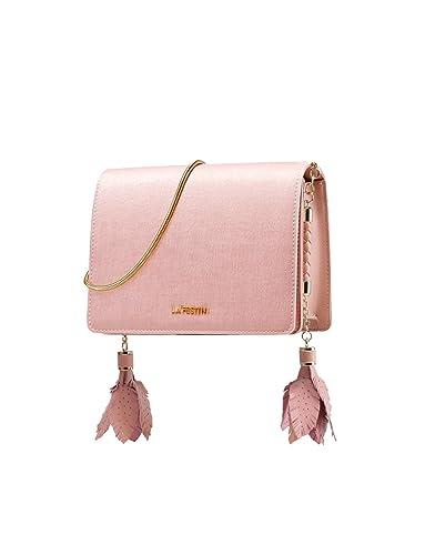 60597c0d66f3 LA FESTIN Chain Shoulder Purses for Women Small Pink Leather Messenger Bag   Handbags  Amazon.com