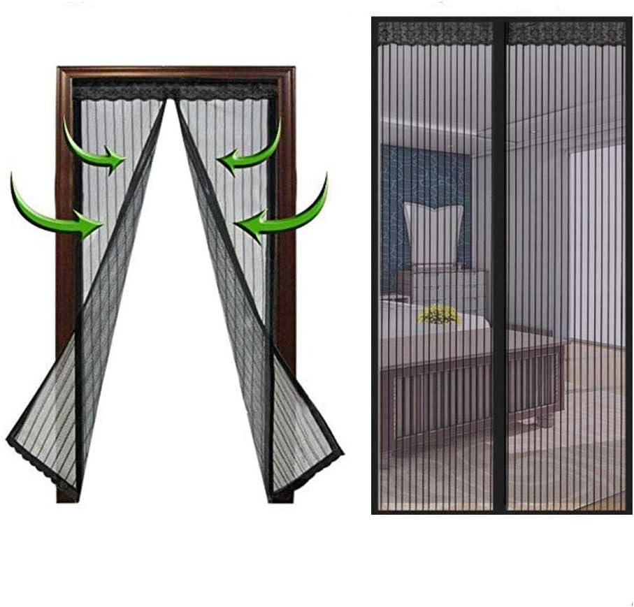 Mosquitera magnética para puerta, cortina de malla con marco completo de velcro, se adapta a puertas de hasta,Apto para balcón, sala infantil, cocina, sala de estar.70*200cm-150*240cm,Black,150*240CM: Amazon.es: Deportes y aire libre